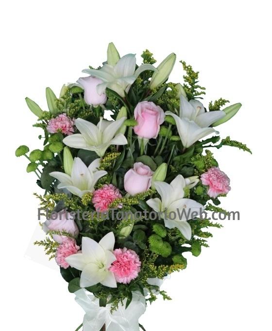 Flores para difuntos, flores fúnebres, enviar arreglos florales tanatorio, flores tanatorio