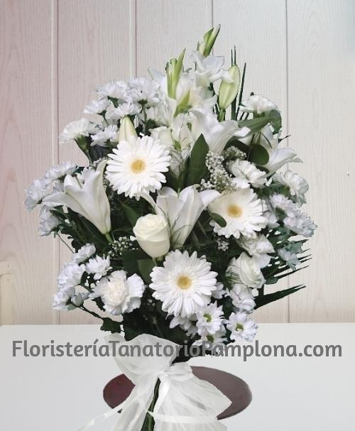 Ramo funerario blanco