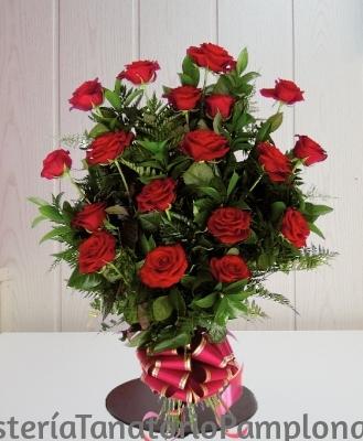 Ramo funerario 18 rosas