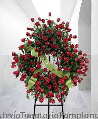 Corona de rosas para difuntos de Pamplona