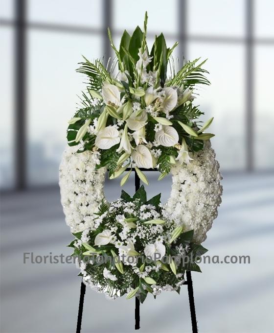floristeria Tanatorio Pamplona, flores para funeral urgentes en Pamplona, Corona de flores funeral, Flores funeral urgentes Pamplona